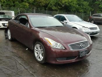 Salvage Infiniti G37 Convertible